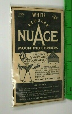 Vintage NuAce Scrapbooking Photo Mounting Corners