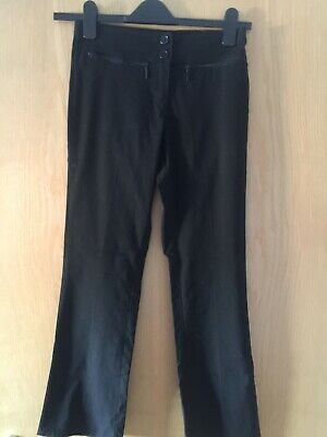 Marks And Spencer Girls Black Trousers Age 13