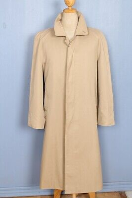BURBERRY Trench Coat Beige Single Breasted 1238 Cotton Blend US 46