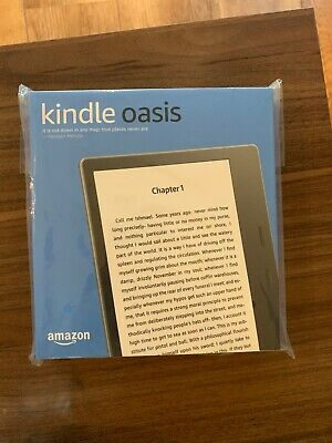 Kindle Oasis - Waterproof, 32 GB, Free 3G + Wi-Fi 9th Generation New & Sealed
