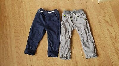 Boys Gray Blue Next Tracksuit Bottoms Trousers 18-24 Month Sport Fashion Cute