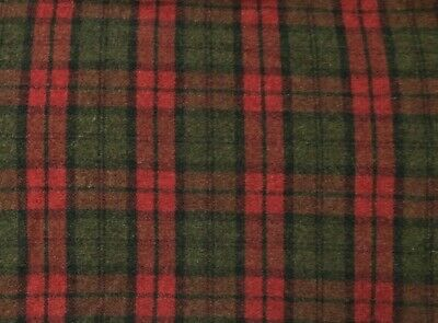 """HAND DYED RUG HOOKING WOOL Mill-Dyed APPLIQUE """"CHRISTMAS PLAID"""""""