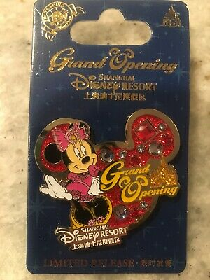 Disney Parks Pin Shanghai Resort Grand Opening Minnie Mouse LR New