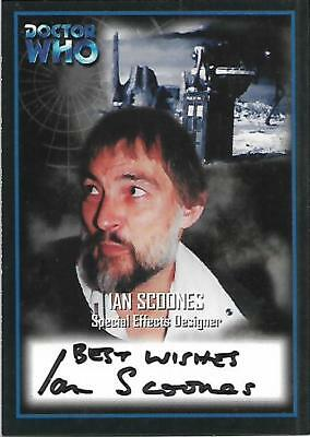 Doctor Who - Series Two Autograph Card AU12 Ian Scoones - Special Effects Design