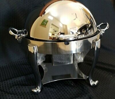 Chafer Chafing Dish Oneida Sant' Andrea Ouverture 18/10 Stainless Round 4 Qt