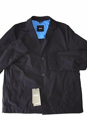Nwt Hugo Boss $595 Travel Series Nyelson Waterproof Jacket Blazer Navy Blue 38R