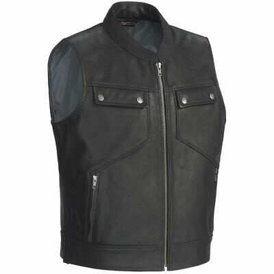 Tour Master Mens Nomad Leather Motorcycle Vest - Pick Size