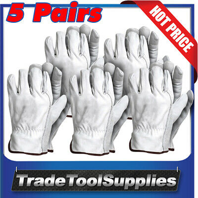 Pure Weld Riggers Gloves 5 Piece XL Cow Grain Natural Leather X-Large GSRIG-XL