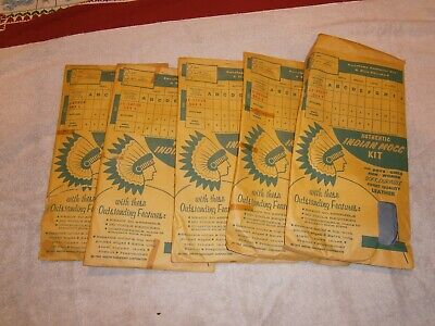 Vintage moccasin kit x 5 from 1963
