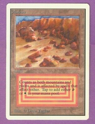 MtG Unlimited Edition Plateau - RARE - M/NM/SFY - Magic the Gathering