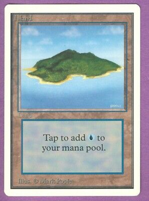 MtG Unlimited Edition Island (B) - M/NM/SFY - Magic the Gathering - Basic Land