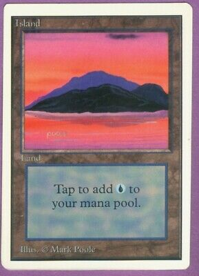 MtG Unlimited Edition Island (C) - M/NM/SFY - Magic the Gathering - Basic Land