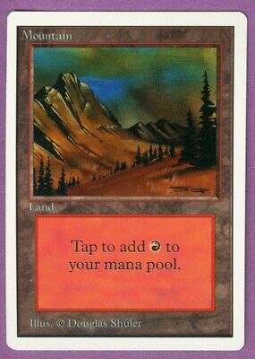 MtG Unlimited Edition Mountain (C) - M/NM/SFY - Magic the Gathering - Basic Land