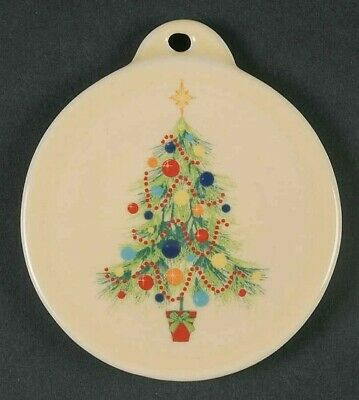 Fiesta 2008 Ivory Christmas Tree Hanging Ornament-Boxed