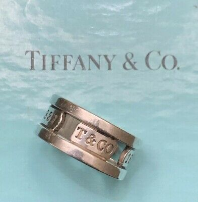 Tiffany & Co 1837 Elements Wide Band Ring 925 Sterling Silver Size 7