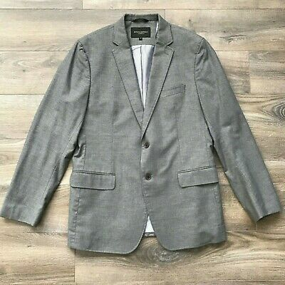 Men's BANANA REPUBLIC Two Button Gray Tailored Fit Blazer Mens Size 42 R
