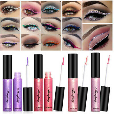 Lasting Eye Makeup Colourful Pigment Glitter Eye Shadow Liquid Eyeliner Smooth