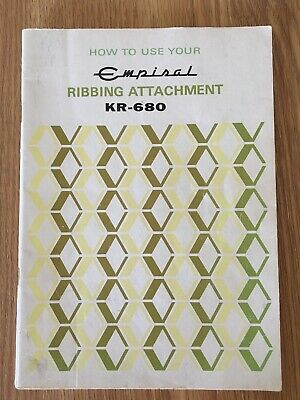 Empisal KR-680 Ribbing Attachment Manual