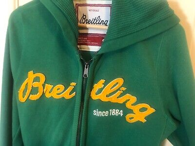 RARE - Breitling Hoodie Jumper - Green - Collectable - Size S - S