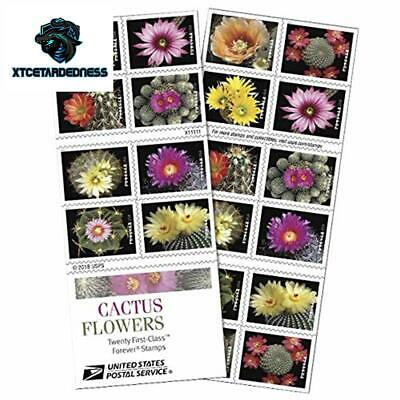Cactus Flowers Book of 20 Forever First Class Postage Stamps Celebration Wedding