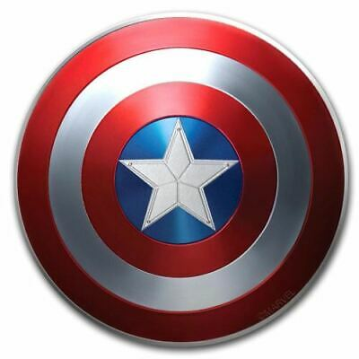 Captain America 2019 10g Silver Proof Domed Shield Coin