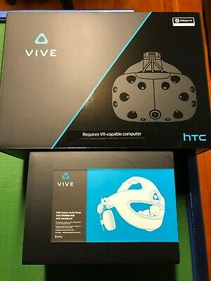 HTC Vive with Deluxe Audio Strap + Protective Skins