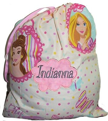 Kids Personalised Drawstring Library Bag - Princesses Portraits -First name FREE