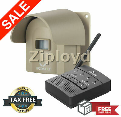 Wireless Driveway Alarm Alert System 1/4 Mile Security Motion Sensor Detector