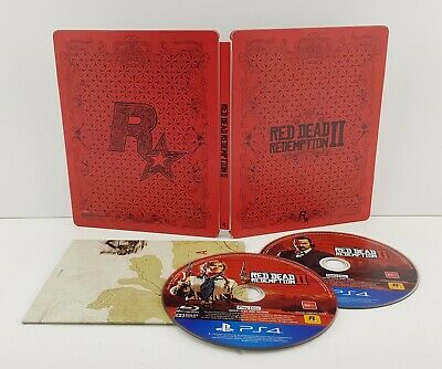 Red Dead Redemption 2 - Limited Edition Steelbook Case Ps4 Playstation 4 Game