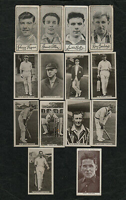 s1486)          VINTAGE LOT OF 14 CIGARETTE CARDS - SPORTING PERSONALITY'S