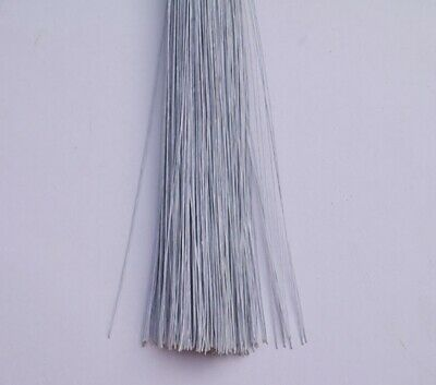 90Pcs White Covered Florist Wire for Floristry/Crafts 18#