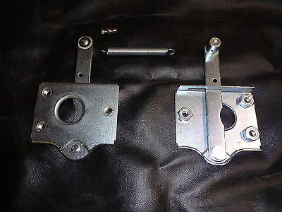 Mgb Mgc Bonnet Safety Catch Plate & Release 4G3035 With Trunnion For Cable