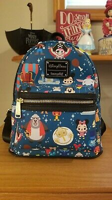 New Disney Parks Loungefly Attractions Characters Mini Backpack Great Placement!