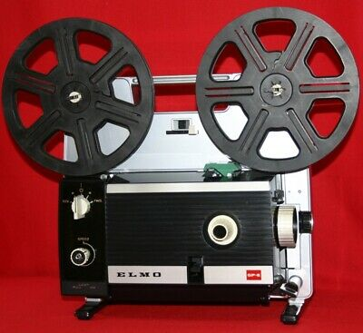 SUPER 8 and STANDARD 8mm ELMO GP-E DUAL SILENT MOVIE PROJECTOR. NEW 150w Lamp A1