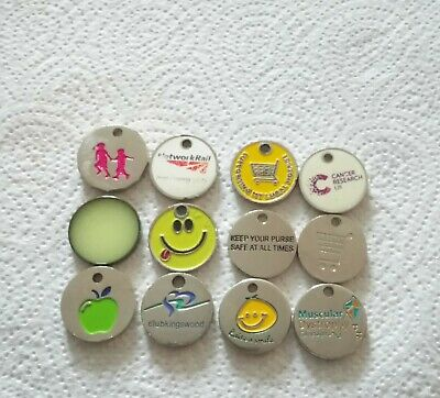 100 x £1 smiley trolley coin tokens OLD SHAPE Gym,swimming,Health,club lockers