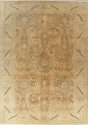 Antique Look Floral Oushak Area Rug Wool Hand-Knotted 10x14 Decorative Carpet