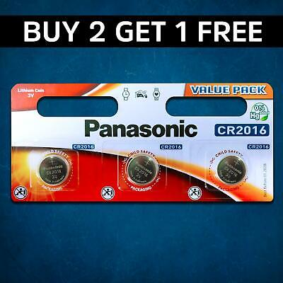 3 x Panasonic CR2016 3V Lithium Coin Cell Battery 2016