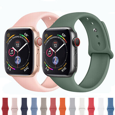 For Apple Watch iWatch 5 4 3 2 Silicone Band Watch Strap Bracelet 38/40/42/44mm