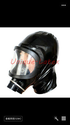 124 Latex Gas Mask Heavy Rubber  Hood Cusotmized
