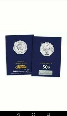 2019 UK Snowman & James 50p Christmas Brilliant Uncirculated coin NEW RELEASE!