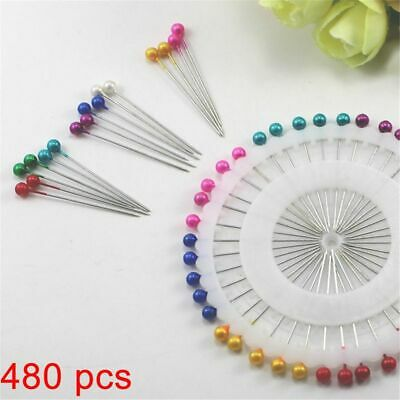 Color Round Head Stainless Steel Sewing Pin Dressmaking Needle Fixed Position