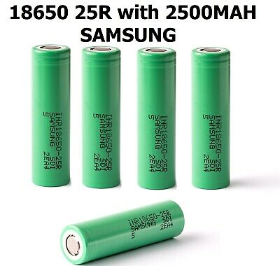 Genuine SAMSUNG 25R 18650 2500mAh 20 35A INR IMR Rechargeable Vape Battery