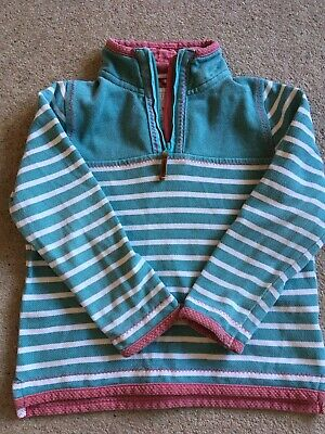 Girls Fat Face Airlie Striped Sweatshirt, age 6-7 years in super condition