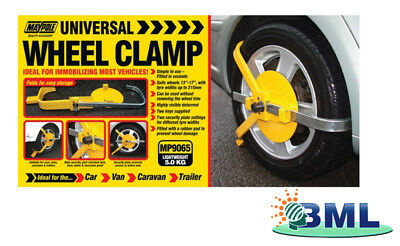 "Adjustable Wheel Clamp 8-10"". Brand- Maypole Code 9061Fd"