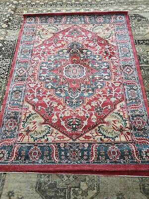 Traditional Beautiful Designed Rug Good Condition 99p Sale