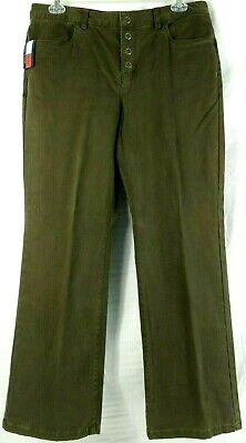 Womens Tommy Hilfiger Jeans Green Hipster Bootcut Stretch Pants Size 14 NWT