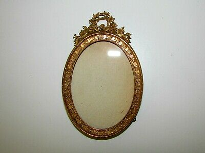 Antique French Gilt Bronze Ormolu Oval Picture Frame