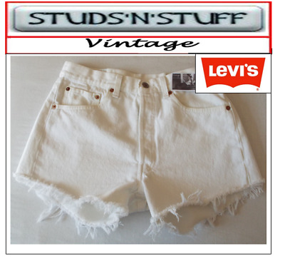 """Levis  Vintage Womens 501'S High Waisted Shorts Size 32"""" Aprox Size 12  (A37"""