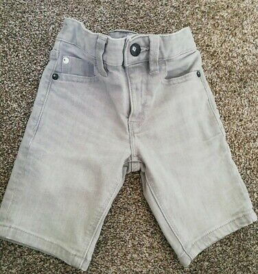 Next Boys Grey Denim Jeans Shorts adjustable waist Age 4 years