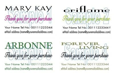 Thank You Cards 50 Mary Kay Oriflame  Arbonne Forever Living cards  Printing